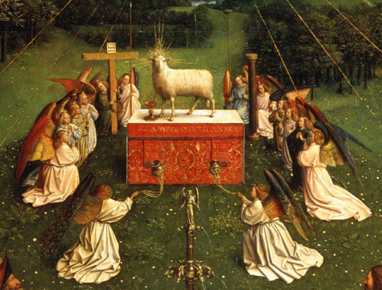 Adoration of the Mystic Lamb by Jan Van Eyck