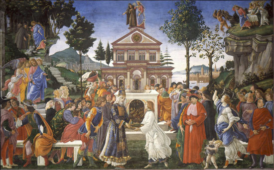 The Temptation of Christ by Botticelli