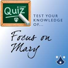 Quiz: Focus on Mary