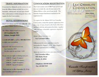 2015 Lay Carmelite Convocation brochure front