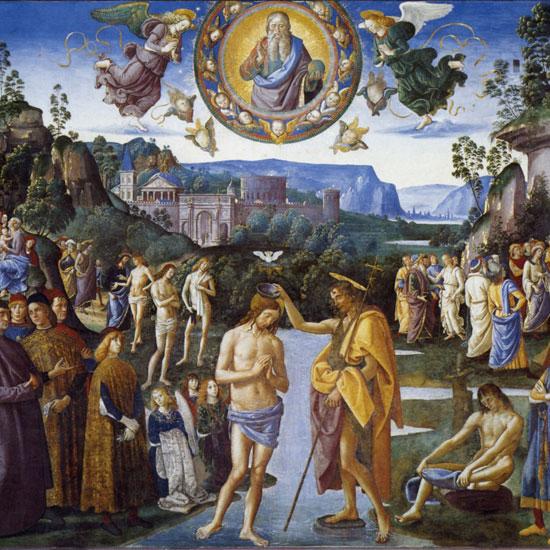 Baptism of Christ by Pietro Perugino, 1483