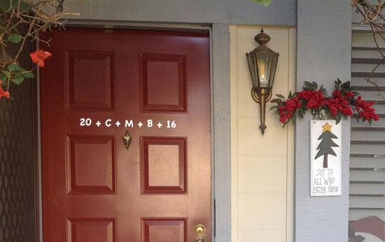 Chalking the door