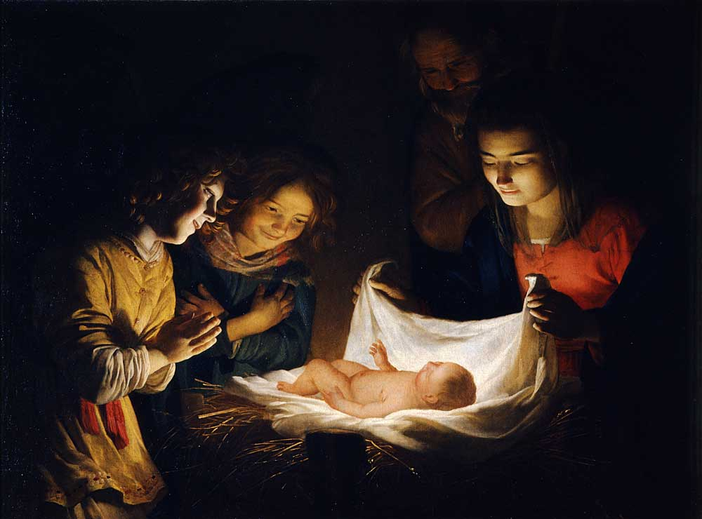 Adoration of the Christ Child by Gerard van Honthorst
