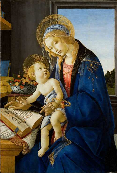 The Madonna of the Book by Sandro Botticelli